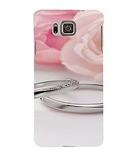 PrintVisa Silver Engagement Rings 3D Hard Polycarbonate Designer Back Case Cover for Samsung Galaxy Alpha