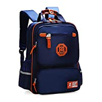 Elementary School Bags Bookbag Waterproof Lightweight Reflective Blue Backpacks for Girls Kids(Sapphire Blue, Big)