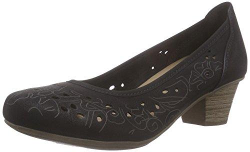 Jane Klain 223 740, Chaussures à talons - Avant du pieds couvert femme Noir - Schwarz (Black 009)