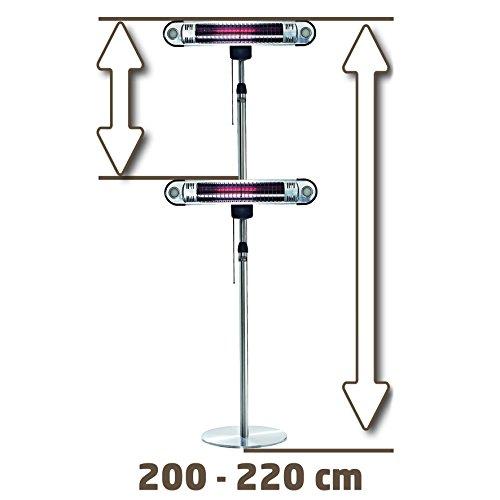 Einhell Design Halogen Heizung IHS 1500 (1500 Watt, Fernbedienung, verstellbar bis 220 cm, LED-Beleuchtung für Außenbereich, Stand- und Wandgerät) - 5