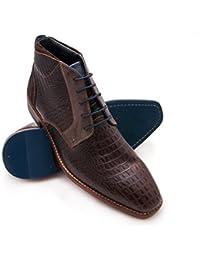 Zerimar Herren Lederschuh Komfortabler Schuh mit Flexibler Gummisohle Leder  Casual Schuh für Den Mann Hochwertige Leder Schuhe… 9a213d0000
