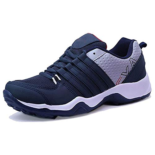 Shoplutera Mens Running Shoes Air Cushion Sneakers Breathable Lightweight Athletic Tennis Outdoor Blue Sport Shoe for Men - 8