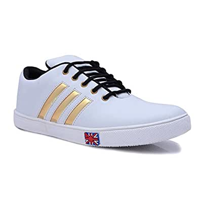 Raftaar Mens Boys Casual Sneakers White Color Shoes Sneakers