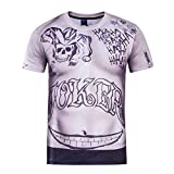 Inception Pro Infinite Maglia - T-Shirt - Joker - Suicide - Uomo - Cosplay - Film - TV (Taglia L)