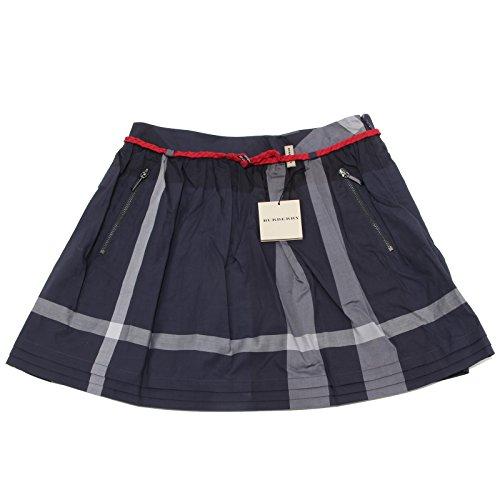 1615N gonna bimba BURBERRY check cotone gonne skirts kids [10 YEARS]