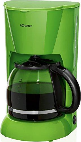 Bomann KA 183 CB Cafetière Filtre pour 12–14 tasses, sécurité Nuit ropf Plaque de maintien au chaud, arrêt automatique, indicateur du niveau d'eau, vert