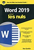 Word 2019 pour les Nuls poche...