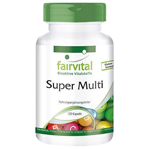 Super Multi - HOCHDOSIERT - 120 Kapseln - Multivitamin nach Linus Pauling - Multi Vitamin-120 Kapseln