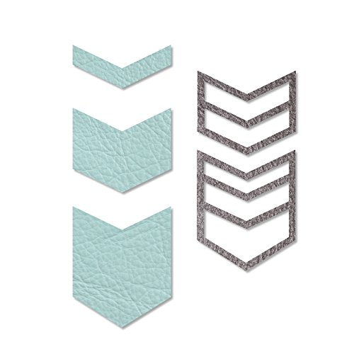 (Sizzix 661326Movers & Shapers Magnetic Set, Chevron von Lindsey Serata (5er Pack),)