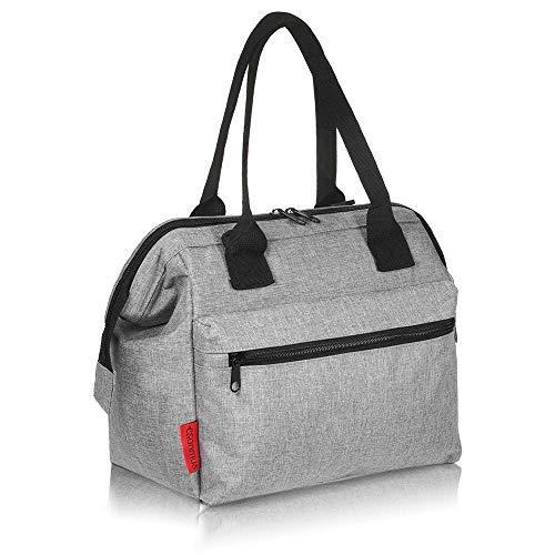 Esonmus borsa termica portatile a tenuta stagna isolamento termico borsa frigo per biberon borsa pranzo con tracolla staccabile (grigio)