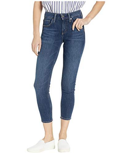 Silver Jeans Co. Damen Avery Curvy-fit High Rise Skinny Crop Jeans, Dark Sandblast, 30W x 25L -