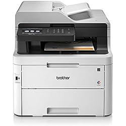 Brother MFC-L3750CDW Imprimante Multifonction 4 en 1 Laser -couleur - Silencieuse 47db - Mémoire 512Mo - AirPrint