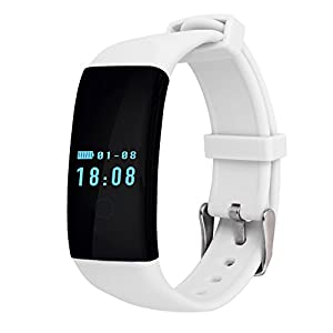 kaersishop Heart Rate Monitor Smartband D21 Smart Bracelet Health Fitness Tracker Pedometer Wristband Sleep Monitor Touch Screen Waterproof Smartwatch for Android and iOS