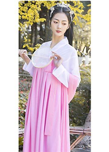 Susichou Tang-Dynastie Kleidung, rosa Kleid, altes Kostüm, Hanfu, Studiofilm, Kostüme, Performance-Kleidung (M)