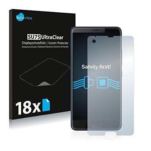 Savvies Schutzfolie kompatibel mit HTC U Ultra [18er Pack] - klarer Displayschutz Htc Touch Crystal