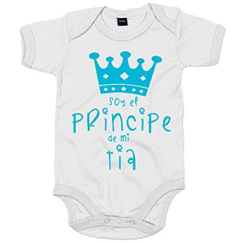Body bebé Soy el principe de mi tía - Blanco, 6-12 meses