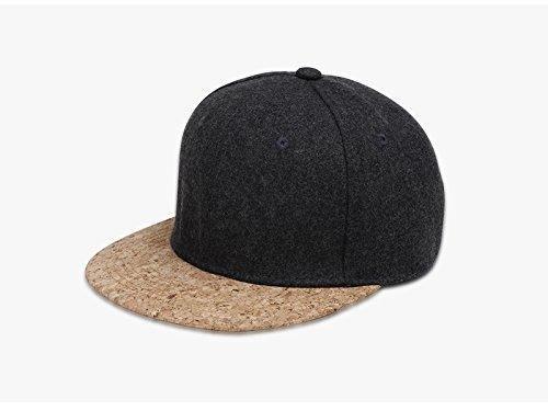 Ruanyi Herbst Kork Mode Einfache Männer Frauen Hut Hüte Baseballmütze Hip Hop Hysterese Einfache Klassische Caps Winter (Farbe : Deep Gray) - Für Frauen Klassische Hüte
