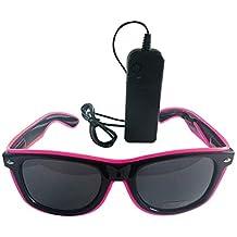ZARLLE-Gafas Gafas Luminosas Aviador Sol Luminosas LED, Gafas de Sol Brillantes, Gafas