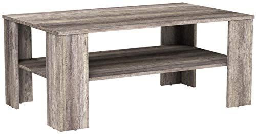 [en.casa] Tavolino da Salotto Rovere Legno Antico 100x60cm Tavolo del Soggiorno