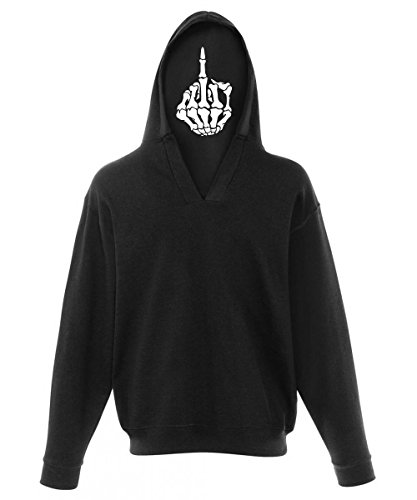 -- Death flipping the bird -- Boys Pullover mit Kapuzendruck Schwarz