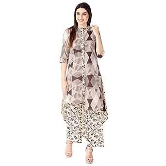 KHUSHAL Women's Cotton Printed Kurta with Palazzo Set