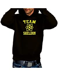 Coole-Fun-T-Shirts Herren Sweatshirt Team Sheldon - Big Bang Theory ! Vintage Hoodie