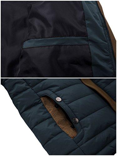 ZSHOW Herren Quilted Jacke Down Style Gepolsterte Mantel Outdoor Sportswear Marine