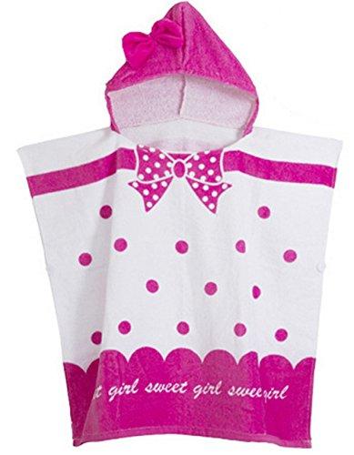 AGOGO Kinder Mädchen und Jungen Strandponcho Premium Kinder Badeponcho für Jungen und Mädchen aus Baumwolle mit KapuzeTierhandtuch 2017 (Einheitsgröße, muster 1)