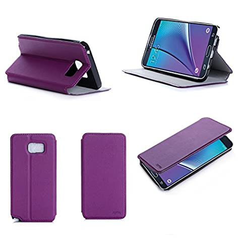 Etui Samsung Galaxy Note 5 4G/LTE violet 16/32/64 GB Cuir