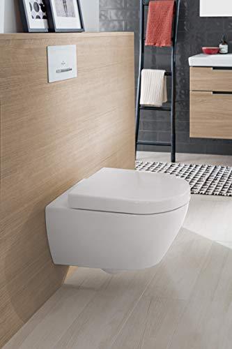 Villeroy & Boch Wand-WC Subway 2.0, Tiefspüler mit offenem Wasserrand und ceramicplus, 1 Stück, weiß alpin, 5614R0R1 - 3