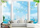 HONGYAUNZHANG Weiße Römische Stein Säule Benutzerdefinierte Fototapete 3D Stereoskopischen Wandbild Wohnzimmer Schlafzimmer Sofa Hintergrund Wandmalereien,320Cm (H) X 400Cm (W)