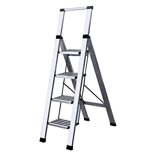 WHS Faltendes Herringbone Engineering Ladder Home Handlauf Verbreiterung Verdickung rutschfeste Pedal Multi Function Flower Stand (Herringbone-band)
