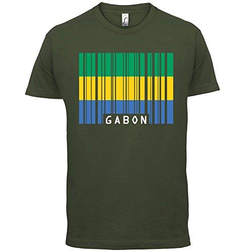 Gabon / Gabun Barcode Flagge - Herren T-Shirt - 13 Farben Olivgrün