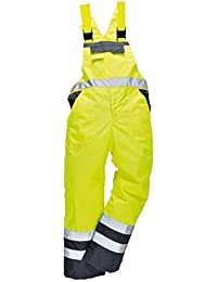 stormway Hombres Alta Visibilidad Contraste Pechera Tirantes Impermeable Ropa De Trabajo ulined Mono Pantalon peto