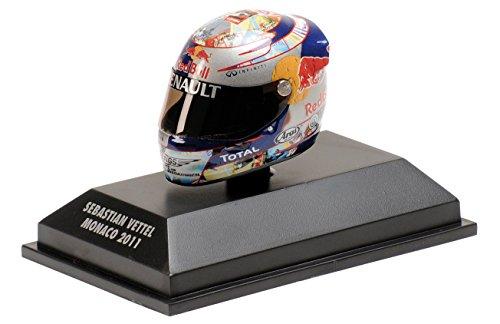 Preisvergleich Produktbild S. Vettel Red Bull GP Monaco Formel 1 Weltmeister 2011 Helm 1:8 Minichamps