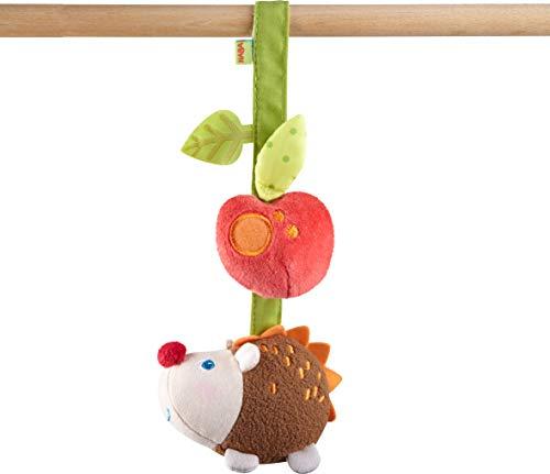 HABA 304285 - Hängefigur Igel, Babyspielzeug aus Textil mit Klapper-Effekt, ideal als Geschenk zur Geburt und Taufe