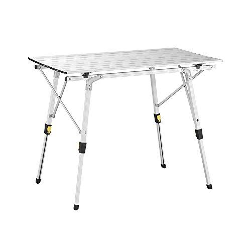 inium Falttisch für 4 Personen Höhenverstellbar (89x53cm) (Billig Tisch)