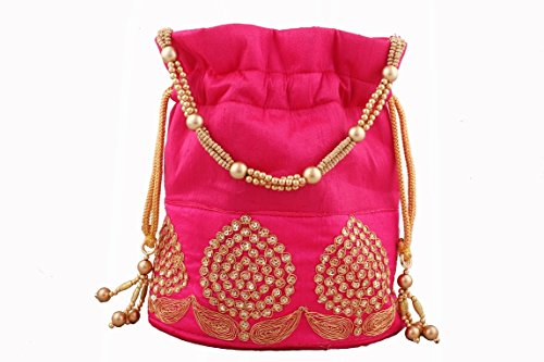 Bombay Haat Ethnic Rajasthani Potli Bag / Clutch / Bridal Clutch  available at amazon for Rs.299