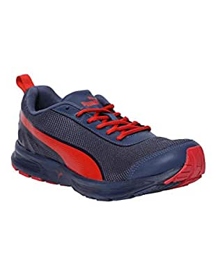 Puma Men's Sargasso Sea-Blue Indigo-Flame Scarlet Running Shoes-6 UK/India (39 EU) (4059507961082)