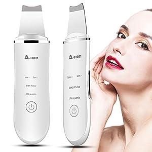 Skin Scrubber Depurador Ultrasónico Facial, 2NLF Limpiador Ultrasónico Facial 4 In 1 Electric Blackhead Remover para…