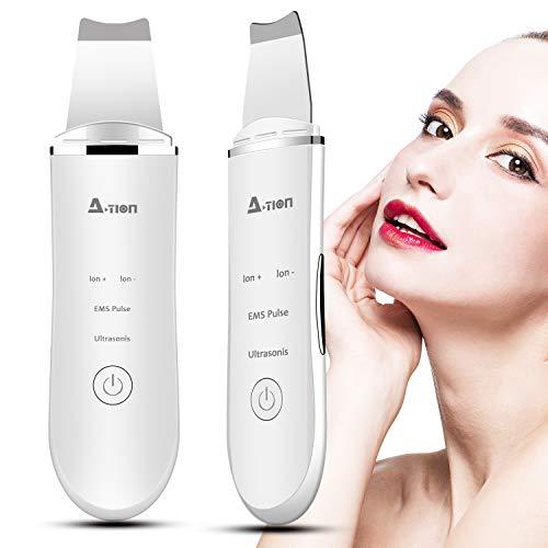 Skin Scrubber Depurador Ultrasónico Facial, 2NLF Limpiador Ultrasónico Facial 4 In 1 Electric Blackhead...