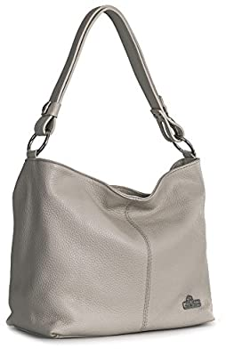 LIATALIA Womens Genuine Italian Leather Adjustable Strap Medium Sized Shoulder Hobo Bag - EMMY