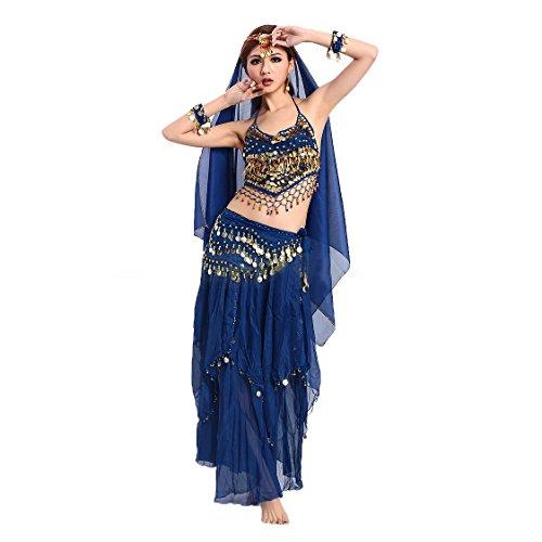 VENI MASEE Gaze Bauchtanz Kostüme Set - ein Sechs-Stück, Preis / Set - (Kostüm Bollywood)