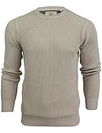 Pull avec tricot à côtes à col ras du cou par Brave Soul pour homme