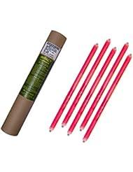 Cyalume - Paquete de 20 tubos luminosos SnapLight Impact, 40 cm, 15 pulgadas, 2 Anillas, 12 horas, no-embalados individualmente, color rojo