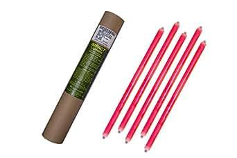 Cyalume 4 Tubi da 5 Bastoncini Luminosi 40 cm SnapLight Impact, 2 Anelli, 12 Ore, 15'', Rosso, non imballati individualmente, 20 Pezzi