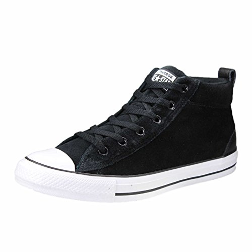 Converse Unisex-Erwachsene CTAS Street Mid Fitnessschuhe, Schwarz Black/White 001, 48 EU