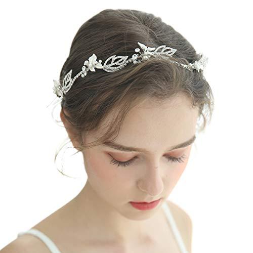 hmuck Hochzeit Brautschmuck Stirnband Kristall Blume Perlen Haarkran für Braut und Brautjungfer ()