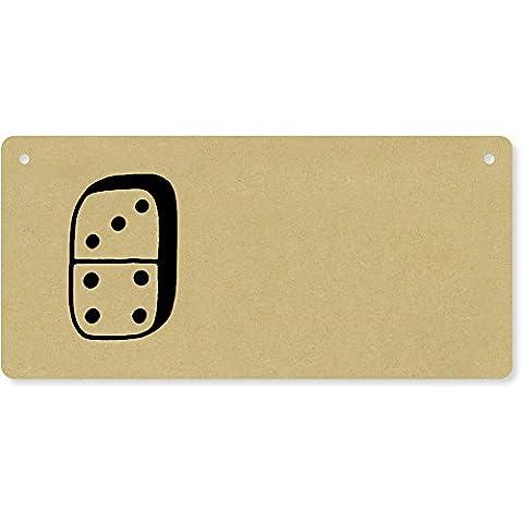 'Domino Piece' Wooden Wall Plaque / Door Sign (DP00027267)
