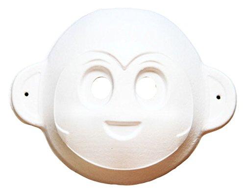 La vogue 5 Stücke Weiß Maske Affe Maske -